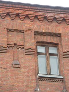Карниз фасада, Кирпичная архитектура, фотографии кирпичрых домов. Архитектор Антон Булатецкий