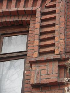 Декоративный элемент, Кирпичная архитектура, фотографии кирпичрых домов. Архитектор Антон Булатецкий
