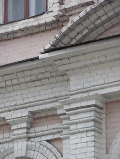 Стилизация античной формы в кирпичную, на примере коринфской капители, Фотографии кирпичных домов, примеры античных - классических архитектурных форм. Архитектор Антон Булатецкий