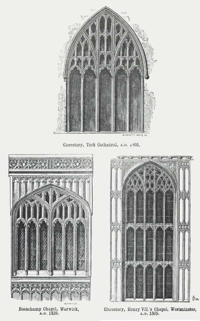 An attempt to discriminate the styles of architecture in England 1881 г. Иллюстрация 193. Готическая архитектура, иллюстрации из 16-и книг, часть 2-я. Архитектор Антон Булатецкий