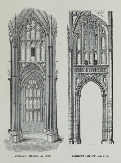 An attempt to discriminate the styles of architecture in England 1881 г. Иллюстрация 196. Готическая архитектура, иллюстрации из 16-и книг, часть 2-я. Архитектор Антон Булатецкий