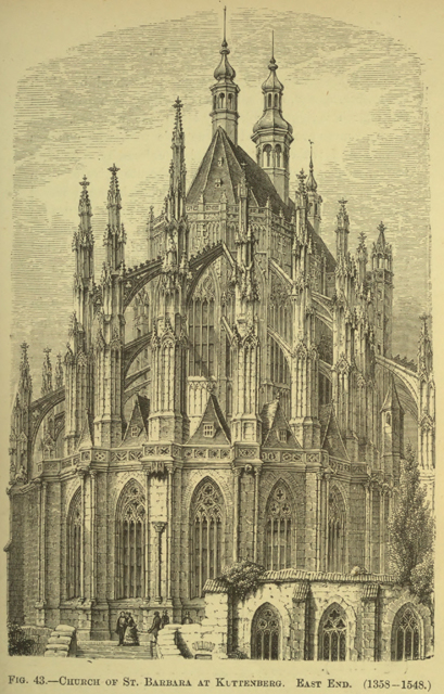 Architecture, gothic and renaissance 1884 г. Иллюстрация 56. Готическая архитектура, иллюстрации из 16-и книг, часть 2-я. Архитектор Антон Булатецкий