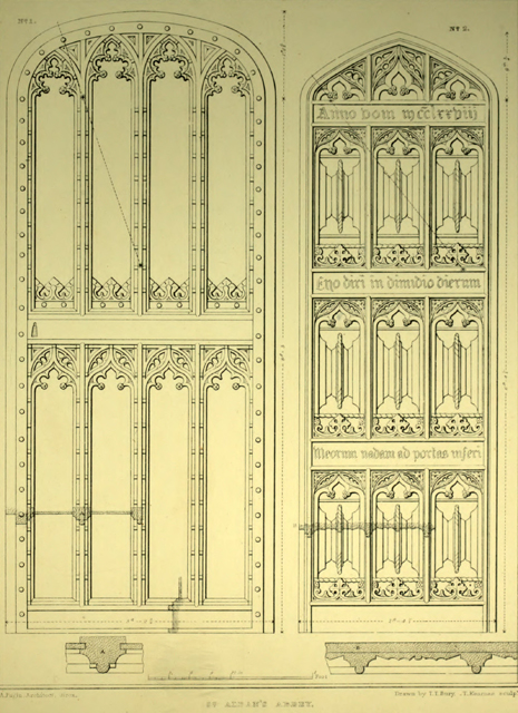 Examples of Gothic architecture selected from various ancient edifices in England 1895 г. Иллюстрация 34. Готическая архитектура, иллюстрации из 16-и книг, часть 2-я. Архитектор Антон Булатецкий