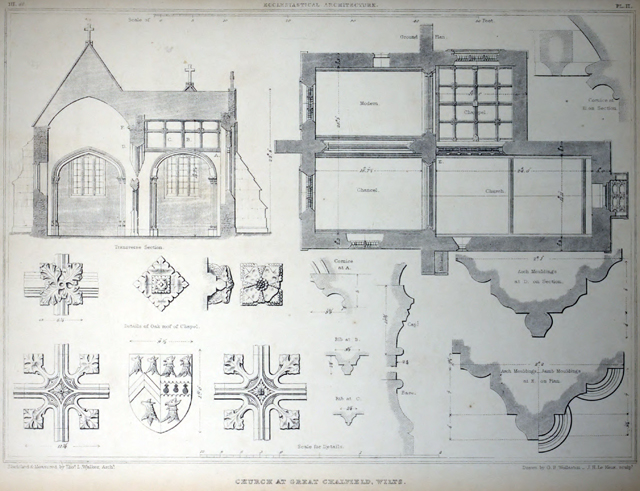Examples of Gothic architecture selected from various ancient edifices in England 1895 г. Иллюстрация 198. Готическая архитектура, иллюстрации из 16-и книг, часть 2-я. Архитектор Антон Булатецкий