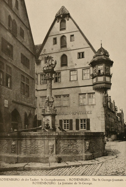 German architecture of the middle ages and Renaissance 1920 г. Иллюстрация 108. Готическая архитектура, иллюстрации из 16-и книг, часть 2-я. Архитектор Антон Булатецкий