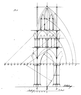 An attempt to define the geometric proportions of gothic architecture 1840 г. Иллюстрация 6. Готическая архитектура, иллюстрации из 16-и книг, часть 3-я. Архитектор Антон Булатецкий