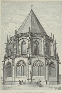 Late Gothic and Renaissance contribution to the history of German Architecture 1899 г. Иллюстрация 4. Готическая архитектура, иллюстрации из 16-и книг, часть 3-я. Архитектор Антон Булатецкий