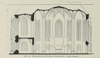 Late Gothic and Renaissance contribution to the history of German Architecture 1899 г. Иллюстрация 50. Готическая архитектура, иллюстрации из 16-и книг, часть 3-я. Архитектор Антон Булатецкий