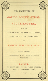 The principles of Gothic ecclesiastical architecture 1859 г. Иллюстрация 1. Готическая архитектура, иллюстрации из 16-и книг, часть 3-я. Архитектор Антон Булатецкий