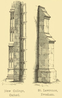 The principles of Gothic ecclesiastical architecture 1859 г. Иллюстрация 136. Готическая архитектура, иллюстрации из 16-и книг, часть 3-я. Архитектор Антон Булатецкий