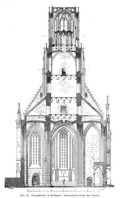 Late Gothic and Renaissance contribution to the history of German Architecture 1899 г. Иллюстрация 13. Готическая архитектура, иллюстрации из 16-и книг, часть 3-я. Архитектор Антон Булатецкий