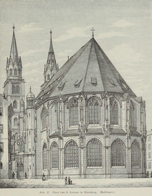 Late Gothic and Renaissance contribution to the history of German Architecture 1899 г. Иллюстрация 18. Готическая архитектура, иллюстрации из 16-и книг, часть 3-я. Архитектор Антон Булатецкий