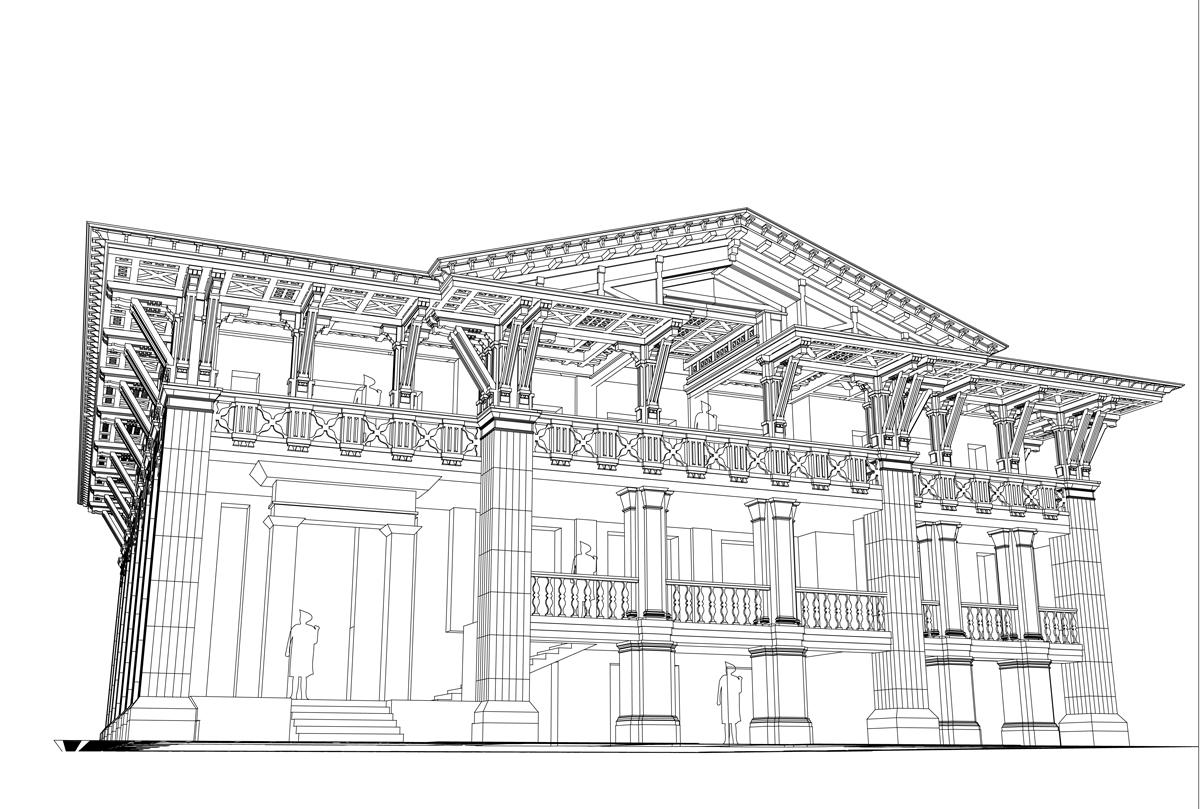 Фасад веранды