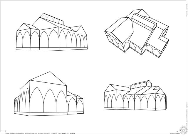 схема одноэтажного дома с