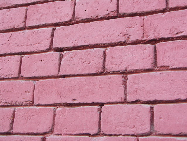 Покрашенная кирпичная стена. Фактуры кирпичных стен, фотографии. Архитектор Антон Булатецкий