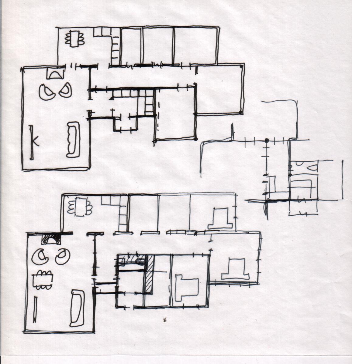 Проект дома с большой гостиной и открытой террасой