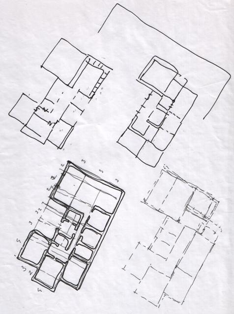Схемы планировки одноэтажного дома.