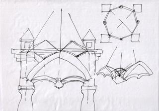 Схема конструкции крыльца, Почиркушки - Крыльцо с кирпичными сводами 2. Архитектор Антон Булатецкий