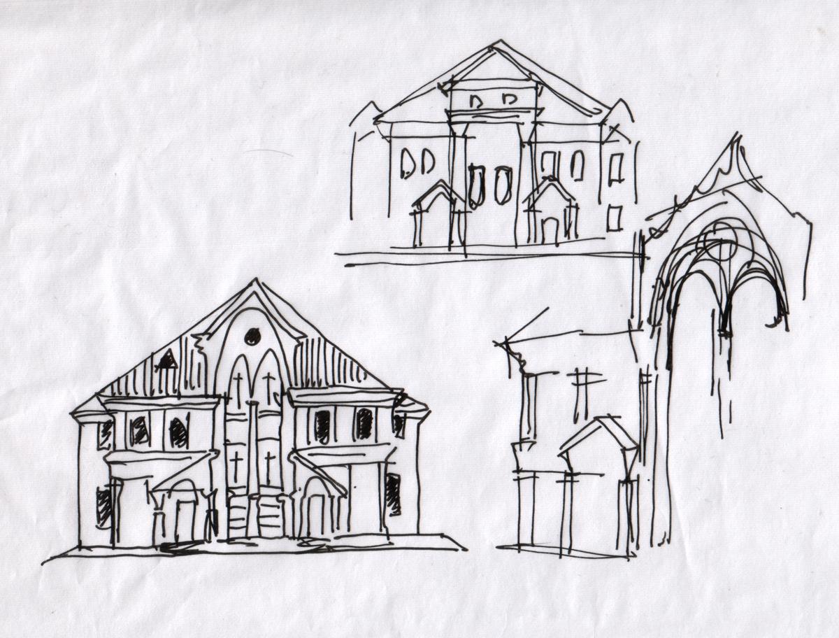 эскизы жилых домов: