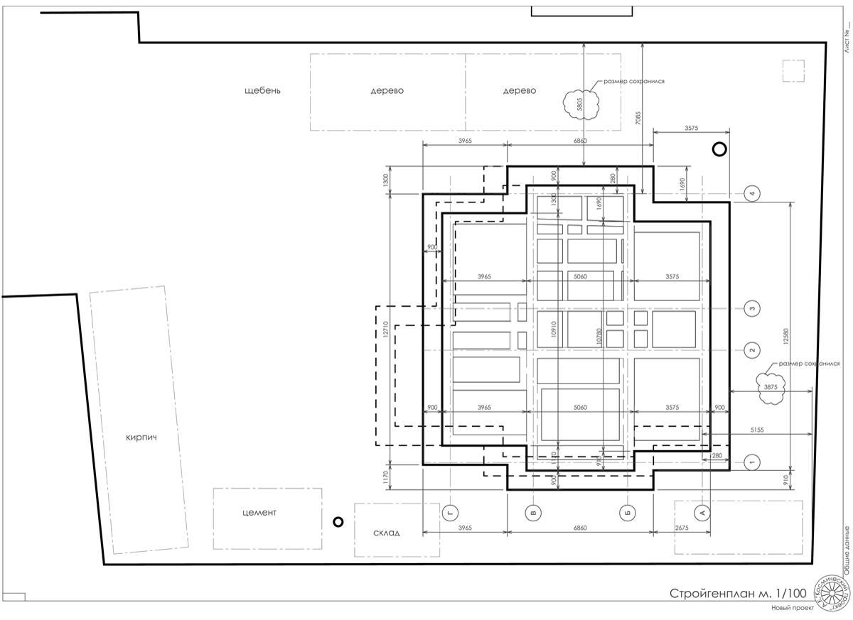Частного дома  план