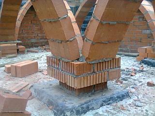 Проект и строительство тонкостенных, нервюрных, кирпичных сводов из... своды, кладка, арки, нервюры