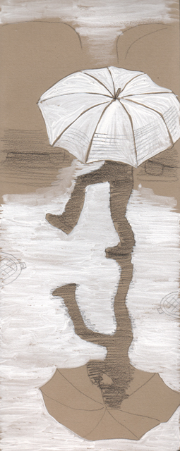 Под зонтом. Альбом рисунков 18. Художник Алиса Зражевская