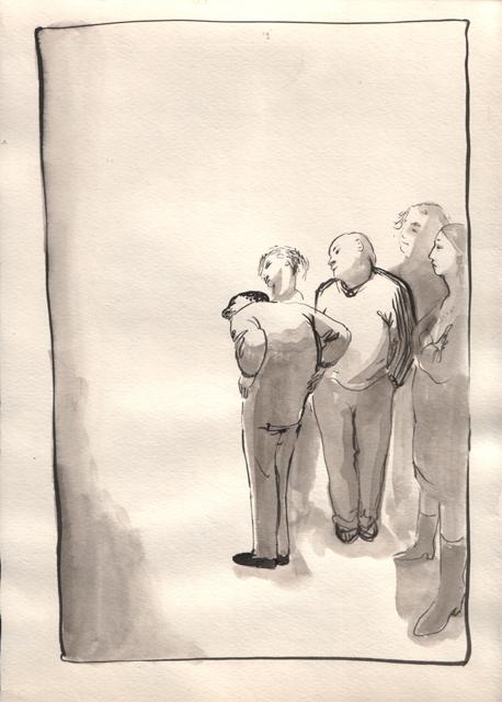 Зрители. Альбом рисунков. Художник Алиса Зражевская