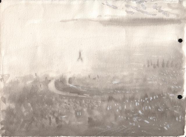 Вид с фанеры, летящей над Парижем. Завтрак туриста. Художник Алиса Зражевская