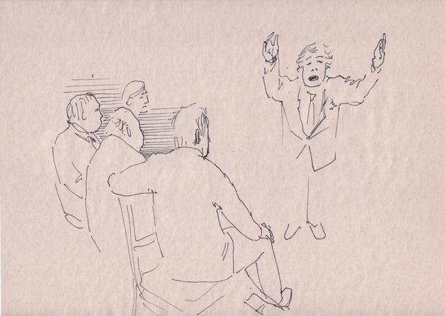 Увлеченный оратор. Альбом рисунков номер 11. Художник Алиса Зражевская