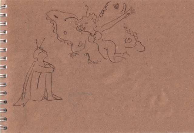 Бабочка. Старые блокноты. Художник Алиса Зражевская