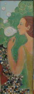 Стенная роспись с элементами мозаики, Альбом рисунков номер 3. Художник Алиса Зражевская