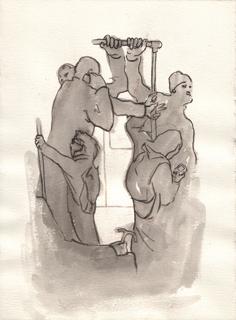 В Метро, Альбом рисунков: Невидимки. Художник Алиса Зражевская