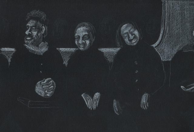 Метро. Альбом рисунков: Одиночества полные штаны. Художник Алиса Зражевская