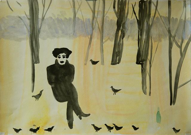 Осень N1. Альбом рисунков: Одиночества полные штаны. Художник Алиса Зражевская