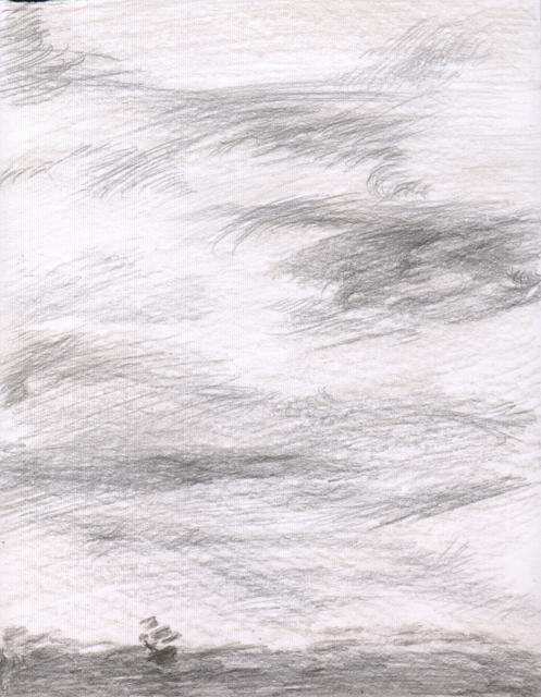 Шторм. Альбом рисунков номер 7. Художник Алиса Зражевская