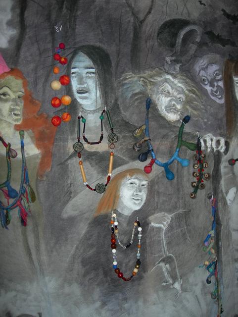Вампиры ведьмы и упыри тоже любят нарядиться. Прикладное творчество. Художник Алиса Зражевская